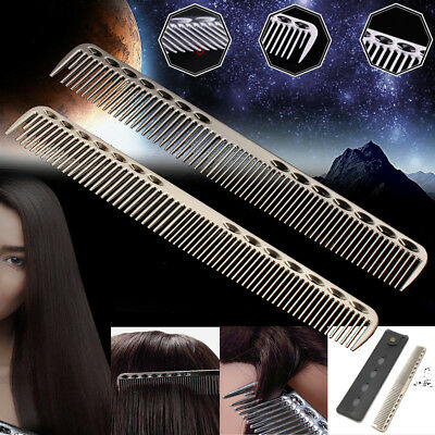 Custom Fit Short Hair - Space Aluminum Barbers Hairdressing Hair Cutting Comb