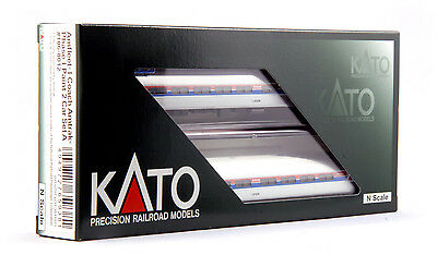 "kato 106-8012  ""AMTRAK *"" AMFLEET PH-1 , 2 car set  (ADD-ON SET )"