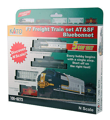 Kato 106-6273 f7 freight  *ATSF BLUBONNET* >> OPTIONS AVALIBLE  M-1 TRAC ,DCC, ?