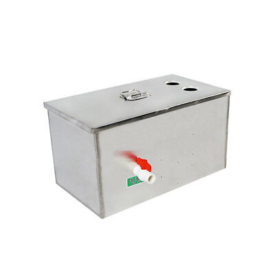 Stainless Steel Grease Trap Interceptor for Restaurant Home Kitchen Resources