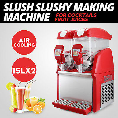 Slush Making Machine Frozen Drink Slushy Smoothie Maker Snow Frozen 50HZ 15LX2