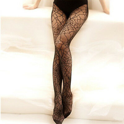 Lady Sexy Halloween Witch Fancy Dress Socking Spider Web Tights Costume Sock