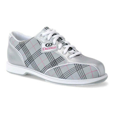Ladies Bowling Shoes Dexter Ana Silver Light Grey Left and Right Handed, 36 -41