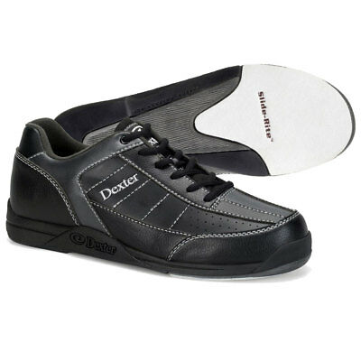 Men's Bowling Shoes Dexter Ricky III Black Allot Size 40-46 Left Right Handed