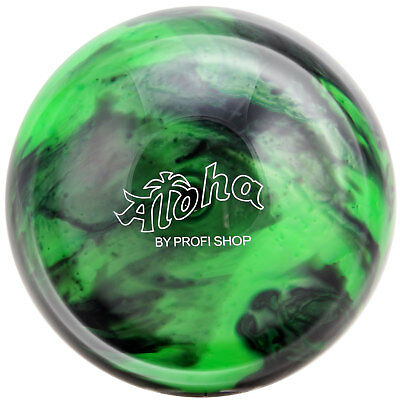 Bowling Ball Aloha Forest 6 - 16 lbs, Bowling Ball Black Green, Spare Ball