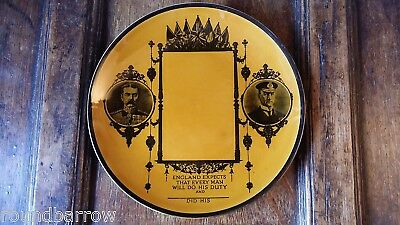 1918 Antique Wwi Ridgways Memorial / Commemorative Hanging Plate - Kitchener Vgc