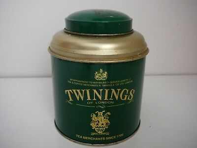 Twinings Tea tin Green and Gold Caddy Collectable Advertising