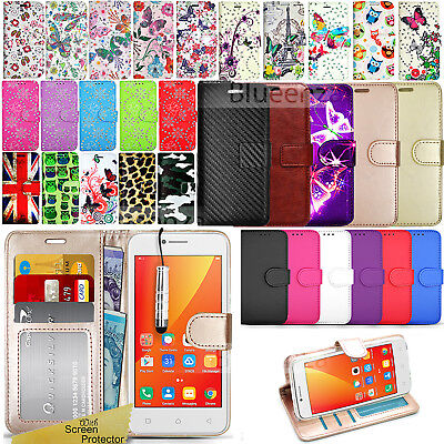 For Lenovo B (Vibe B A1010) - Wallet Leather Case Flip Cover + Screen Protector