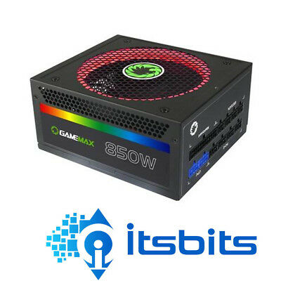 Gamemax 850W Rgb Atx Power Supply 256 Colour 14Cm Fan Modular 80+ Gold 70W 12V