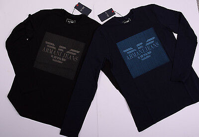 ARMANI JEANS Mens T- Shirt Crew Neck Long Sleeve Muscle Stretc Fit 100% Genuine