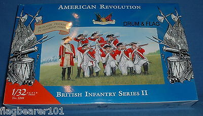 ACCURATE 3208 BRITISH INFANTRY II AMERICAN WAR OF INDEPENDENCE 1:32 SCALE (54mm)
