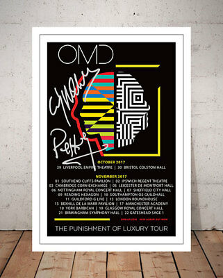 Omd Orchestral Manoeuvres In The Dark 2017 Concert Flyer Signed Print