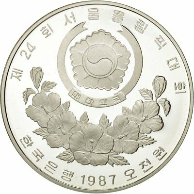 [#452771] KOREA-SOUTH, 5000 Won, 1987, MS(65-70), Silver, KM:61