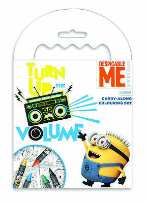 Despicable Me Carry Along Colouring Pad Stocking Filler Activity Set Kids