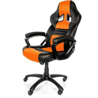 Arozzi Monza Series Gaming Racing Style Swivel Chair - Orange/Black