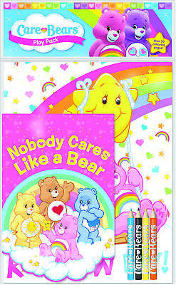Care Bears Play Pack Colouring Pads Pencils Childrens Activity Set Girls Kids