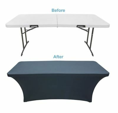 Adjustable Portable Outdoor Folding DJ Console Table Top Stand Skirt Cloth Cover