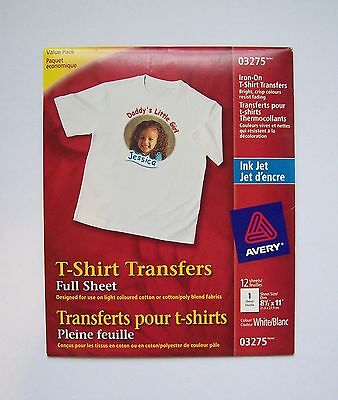 (Brand New) Avery Iron-on Transfer Paper 03275