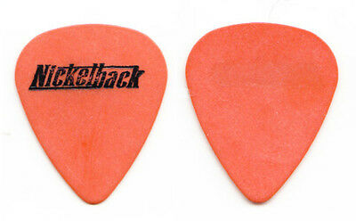 Nickelback Chad Kroeger Signature Orange Guitar Pick - 2001 Tour