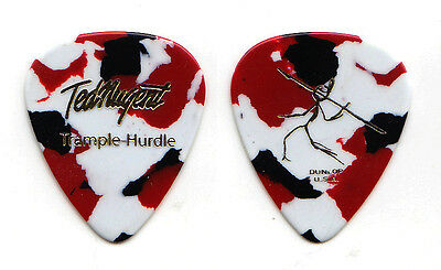 Ted Nugent Signature Multicolor Guitar Pick - 2010 Trample Hurdle Tour