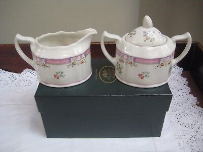Boxed Laura Ashley 'Alice' Milk Jug & Lidded Sugar Bowl