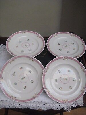 "Boxed Set 4 Laura Ashley 'Alice' 10 1/4"" Dinner Plates"