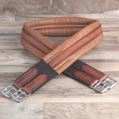 54 inch HILASON BROWN ENGLISH AMERICAN LEATHER HORSE SADDLE GIRTH CINCH