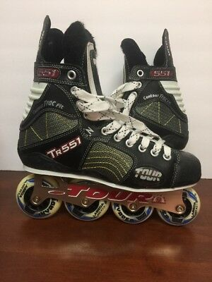 Tour TR551 Rollerblades Skates Size 9  Invader 72mm By Tour hockey Use