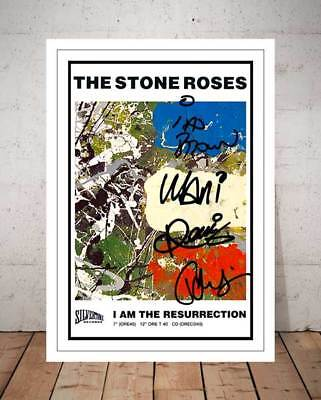 Ian Brown The Stone Roses I Am The Resurrection 1989 Autographed Photo Print