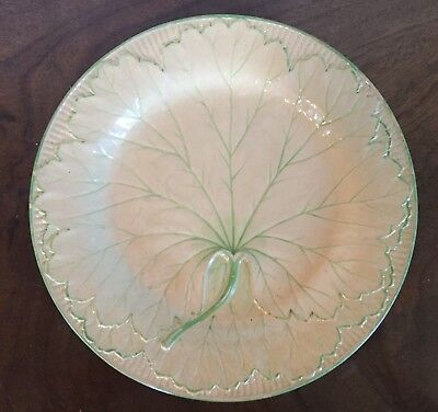 Antique 19th century English Wedgwood Creamware Pearlware Leaf Plate Dish