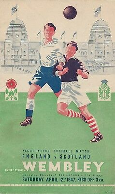 ENGLAND v Scotland (Home International @ Wembley) 1947