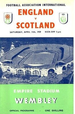 ENGLAND v Scotland (Home International @ Wembley) 1959
