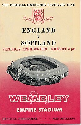 ENGLAND v Scotland (Home International @ Wembley) 1963