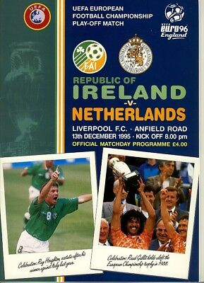 IRELAND v Holland (European Championship Play-Off) 1995