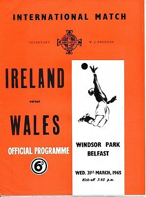 NORTHERN IRELAND v Wales (Home International) 1965