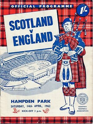 SCOTLAND v England (Home International) 1962