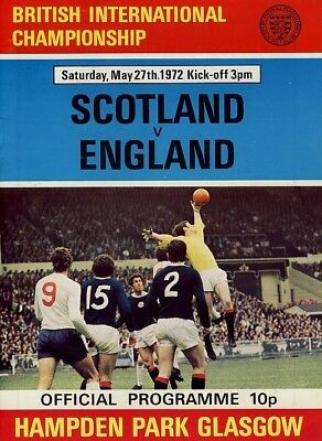 SCOTLAND v England (Home International) 1972