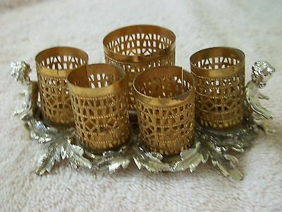 """Vintage Signed """"SF"""" Lipstick Holder, Gold Tone & Silver Tone Metals"""