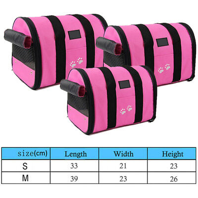 Pet Carrier Bag Travel Cage  Dog Cat Rabbit Foldable Portable Carry Handbag