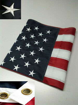 US American Flag 3x5 FT Heavy Duty Embroidered Stars Sewn Stripes Grommets Nylon