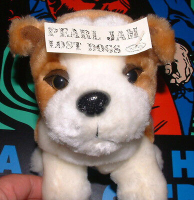 2003 PEARL JAM Promo - Lost Dogs Stuffed Dog Plushie Epic Records Poster RARE!