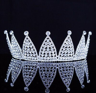 Luxury Clear Austrian Rhinestone Crystal Tiara Crown Bridal Prom Pageant T42