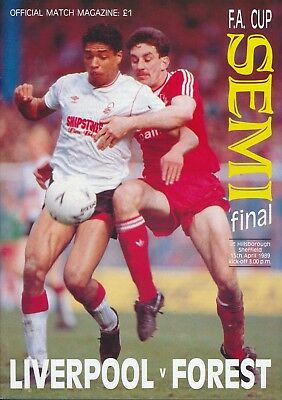 FA CUP SEMI FINAL 1989: Liverpool v Forest - HILLSBOROUGH DISASTER