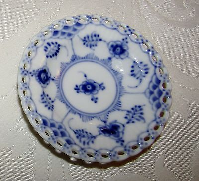 Royal Copenhagen Blue Fluted Full Lace Individual Condiment Dish/Butter Pat