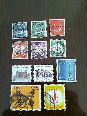 11 Used Stamps Of Pakistan