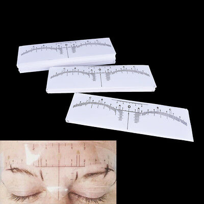 Disposable Eyebrow Stencil Makeup Microblading Measure Tattoo Ruler Beauty Tool#