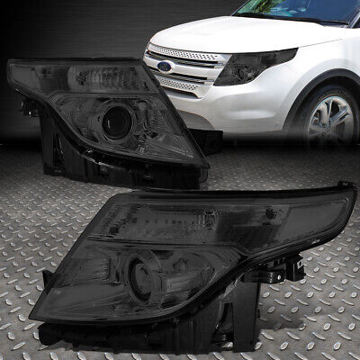 For 2011-2015 Ford Explorer Smoked Housing Clear Corner Projector Headlight