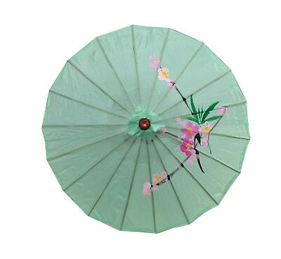 Japanese Chinese Umbrella Parasol 32 inches 156-6, Green S-2195