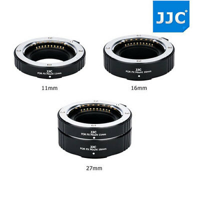 11mm + 16mm Marco Automatic Extension Tubes Set for Fujifilm X Series X-T2 X-T1