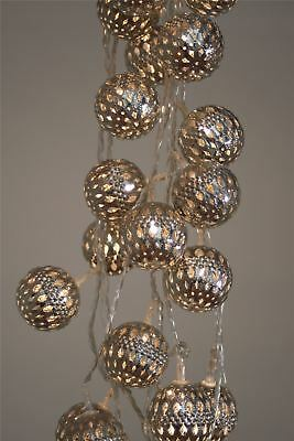 Silver Grand Maroq - 16 LED Indoor Light Chain w/Built In Timer-Battery Operated